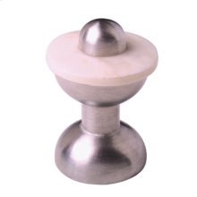 Satin Pewter & Cattle Bone Horn Cabinet Knob - 004