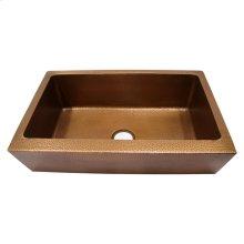 """Grecia Single Bowl Copper Farmer Sink - 30"""""""