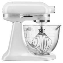 Artisan® Mini Design Series 3.5 Quart Tilt-Head Stand Mixer - Frosted Pearl White