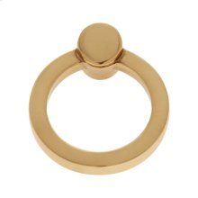 Satin Brass Round Ring Pull