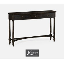 Dark Ale Three Drawer Large Console Table