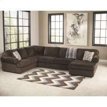 Signature Design by Ashley Jessa Place 3-Piece Left Side Facing Sofa Sectional in Chocolate Fabric [FSD-6049SEC-CHO-GG]