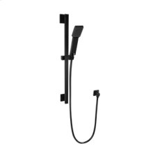 Flexible Hose Shower Kit with Slide Bar - Black