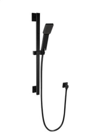 Flexible Hose Shower Kit with Slide Bar - Black Product Image