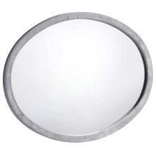 "Hudson Grey Velvet Mirror - 44"" W x 1"" D x 35.5"" H"