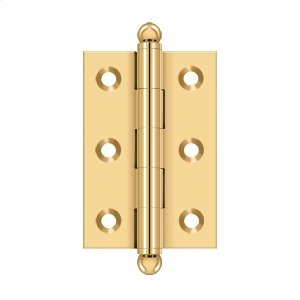 """2-1/2""""x 1-11/16"""" Hinge, w/ Ball Tips - PVD Polished Brass Product Image"""