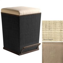 Stone Fabric Purveyor Counter Stool in Natural Finish