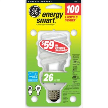 GE 26 Watt Soft White Spiral®