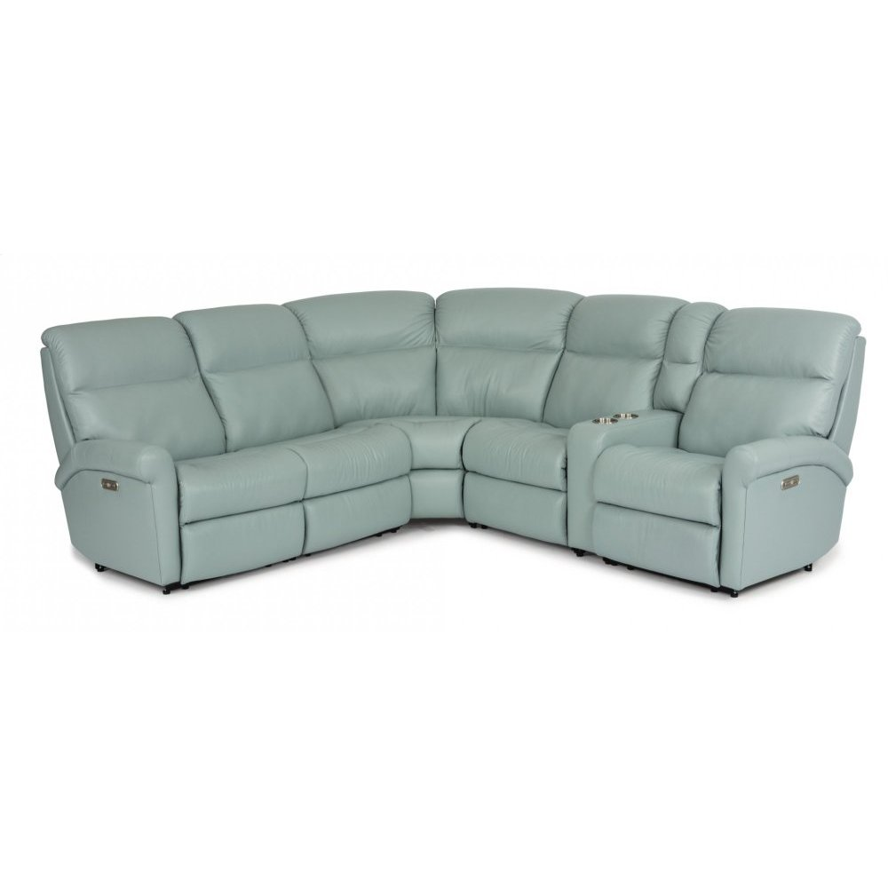 Davis Leather Power Reclining Sectional with Power Headrests