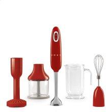Smeg 50s Retro Style Design Aesthetic Hand Blender, Red
