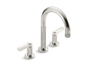 Deck-Mount Bath Faucet, Lever Handles - Nickel Silver Product Image
