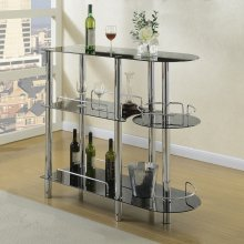 F2114 / Cat.19.p62- BAR STAND/GLASS BLK