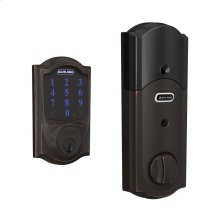 Schlage Connect Smart Deadbolt, Z-Wave Plus Enabled (for Works with Ring Alarm Security System) - Aged Bronze