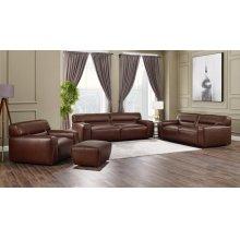 SU-AX6816-SLCO  Leather 4 Piece Living Room Set  Sofa  Loveseat  Armchair  Ottoman  Brown