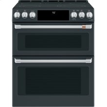 """Café 30"""" Smart Slide-In, Front-Control, Radiant and Convection Double-Oven Range"""