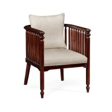 Slat Sided Occasional Chair, Upholstered in MAZO