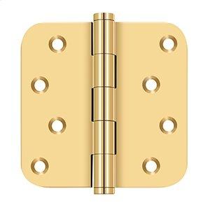 "4""x 4""x 5/8"" Radius Hinge / Zig-Zag - PVD Polished Brass Product Image"