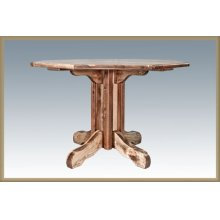 Homestead Pedestal Table - Stained and Lacquered