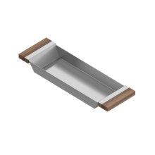 Tray 205222 - Stainless steel sink accessory , Walnut