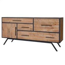 Salvatore KD Sideboard 4 Drawers + 1 Door, Rustic Gamma