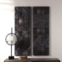 Asuka Wood Wall Panels, S/2