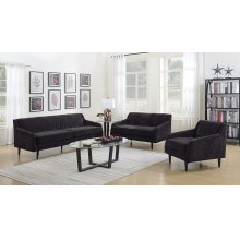Betty Black Sofa, Love, Chair, U7451