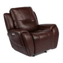 Trip Leather Power Gliding Recliner with Power Headrest
