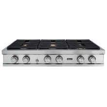 """48"""" Rangetop, Stainless Steel, Natural Gas/High Altitude"""