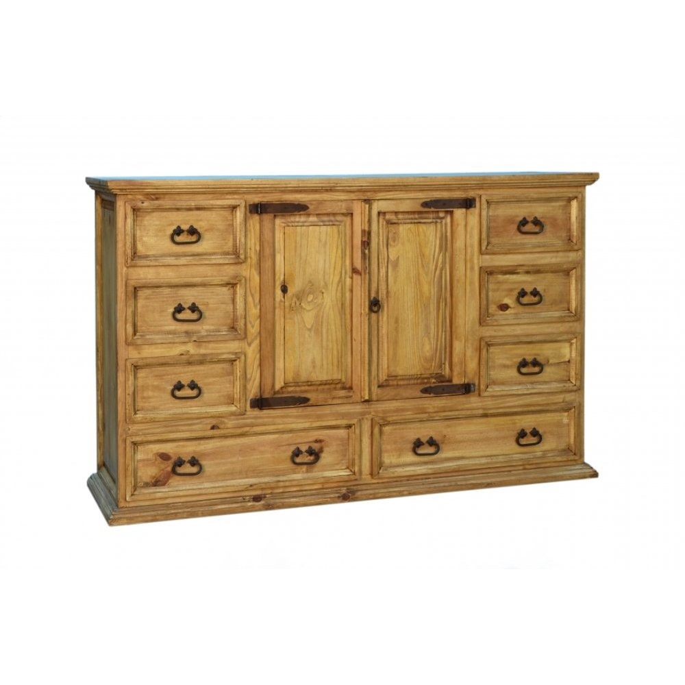 Traditional 8 Drawer 2 Door Dresser