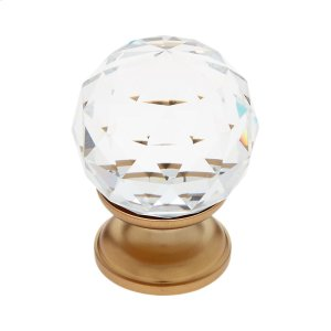 Satin Brass 30 mm Round Faceted Knob Product Image