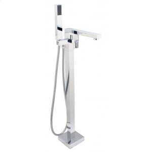 SQUARE Free Standing Tub Filler with Hand Shower Product Image