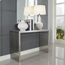 Gridiron Console Table in Silver Product Image