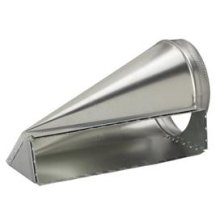 """4-1/2 x 18-1/2 to 10"""" Round Transition for Range Hoods and Bath Ventilation Fans"""