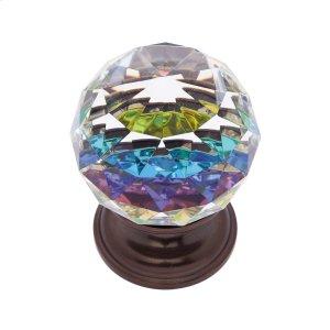 Old World Bronze 40 mm Round Prism Knob Product Image