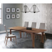 Armen Living Parker Mid-Century Walnut Wood 5 Piece Dining Set