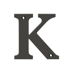 "4"" Residential Letter K - Oil-rubbed Bronze Product Image"
