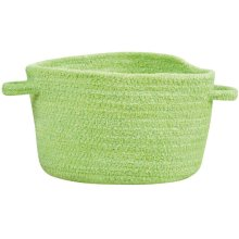 Lime Green Chenille Creations Basket