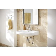 White Wicker Park Single Hole Wall Hung Bathroom Sink