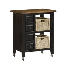 Tuscan Retreat® 2 Basket Kitchen Cart - Black