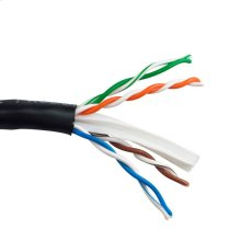 Cat6 Enhanced 550 Mhz 23 Awg Solid Bc, 4pr, Utp, Ansi/tia 568-C.2, Iec 11801 Class E, Ul Cmr, En50575:2014 Eca, Pvc Jkt- Black- 1000ft/305m Box