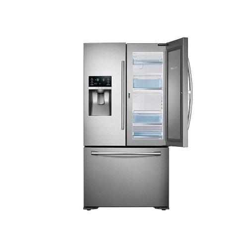 23 cu. ft. Food Showcase Counter Depth 3-Door Refrigerator in Stainless Steel
