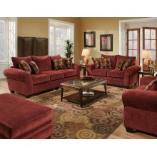 3700 Masterpiece Burgundy Sofa and Loveseat