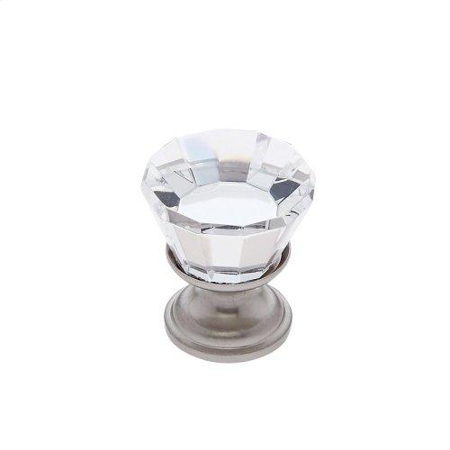 Satin Nickel 22 mm Flat Top Crystal Knob