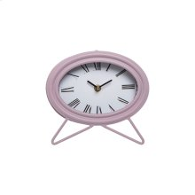 Oval Tabletop Clock Lilac