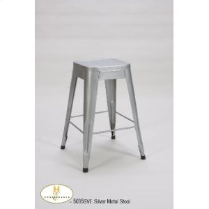 """24"""" Metal Stool (available in Black, Silver or White)"""