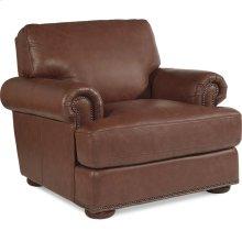Andrew Stationary Occasional Chair w/ Brass Nail Head Trim