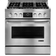 "Jenn-Air® 36"" Pro-Style® LP Range with MultiMode® Convection System, Pro-Style® Stainless Handle"