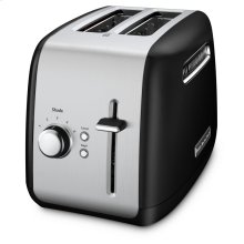 2-Slice Toaster with manual lift lever - Onyx Black