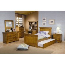 "HUTCH, OAK FINISH 44-1/2""Wx11""Dx39""H"
