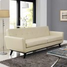 Engage Bonded Leather Sofa in Beige Product Image